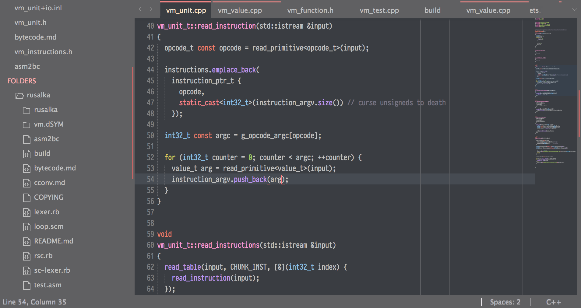 A screenshot of my Sublime Text 3 configuration